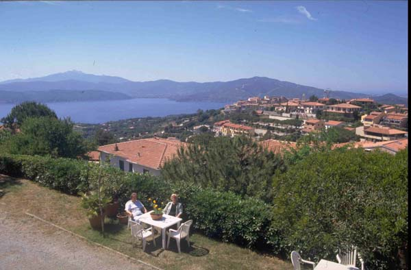 Elba Island Tuscany Italy. Sea-view apartments. A sea view from Elba I Ginepri apartments.